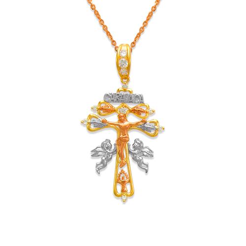 463-024 Fancy Jesus Cross CZ Pendant