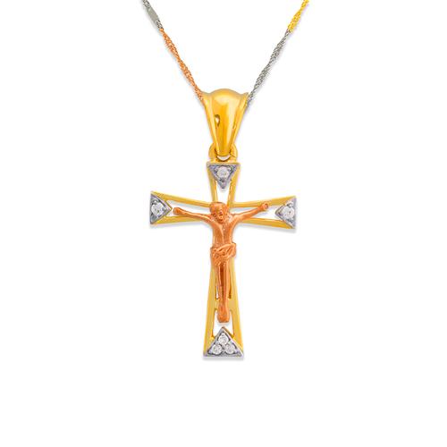 463-025 Fancy Jesus Cross CZ Pendant