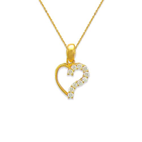 463-501 Heart White CZ Pendant