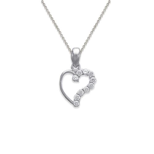 463-501W Heart CZ Pendant