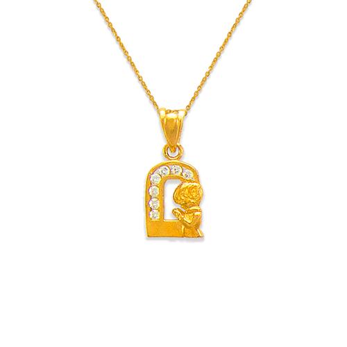 463-602 Fancy Communion Boy CZ Pendant