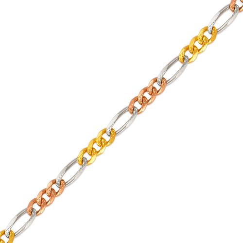 132-201TS Figaro Tricolor Chain