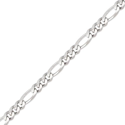 132-201WS Figaro White Chain
