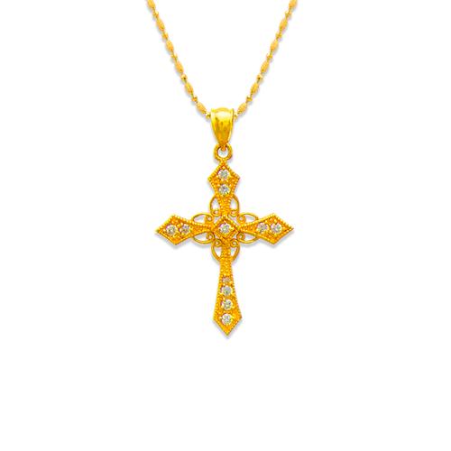 663-004 Cross CZ Pendant