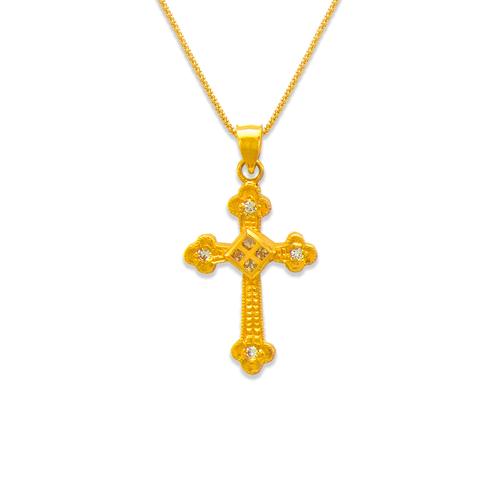 663-005 Cross CZ Pendant