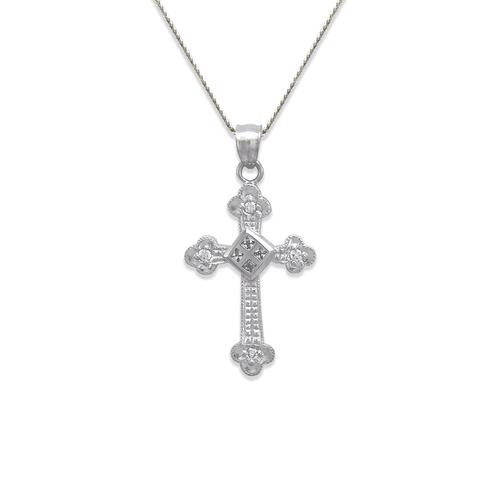 663-005W Cross CZ Pendant
