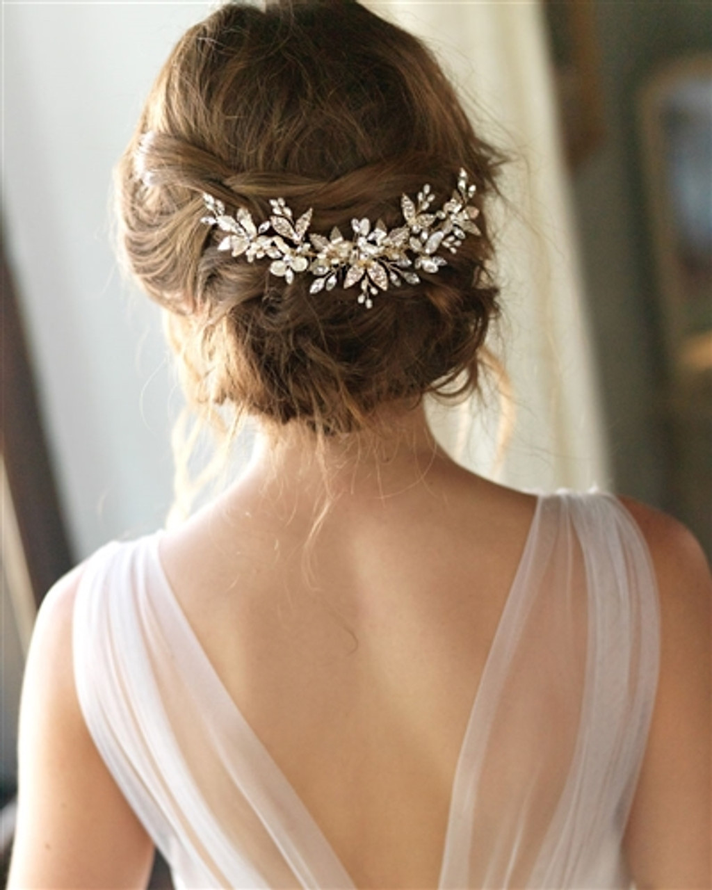 Pearl Hair Comb beaded hair comb Rose Pearl Comb Lace Pearl Comb Bridal Floral Comb Pearl Hair Piece Bridal hairpiece Champagne Comb