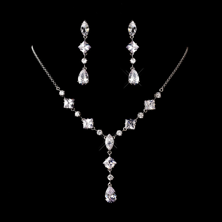 Charming Cubic Zirconia Bridal Jewelry Set - sale!