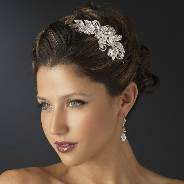 Dazzling Floral Side Accent Wedding Headband
