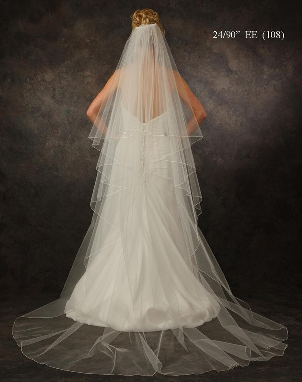 JL Johnson Bridals V5311 Chapel Length Wedding Veil