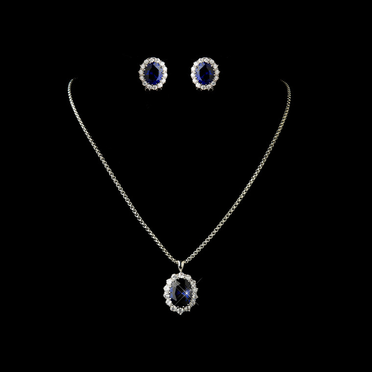 Gorgeous Sapphire Blue Wedding Jewelry Set