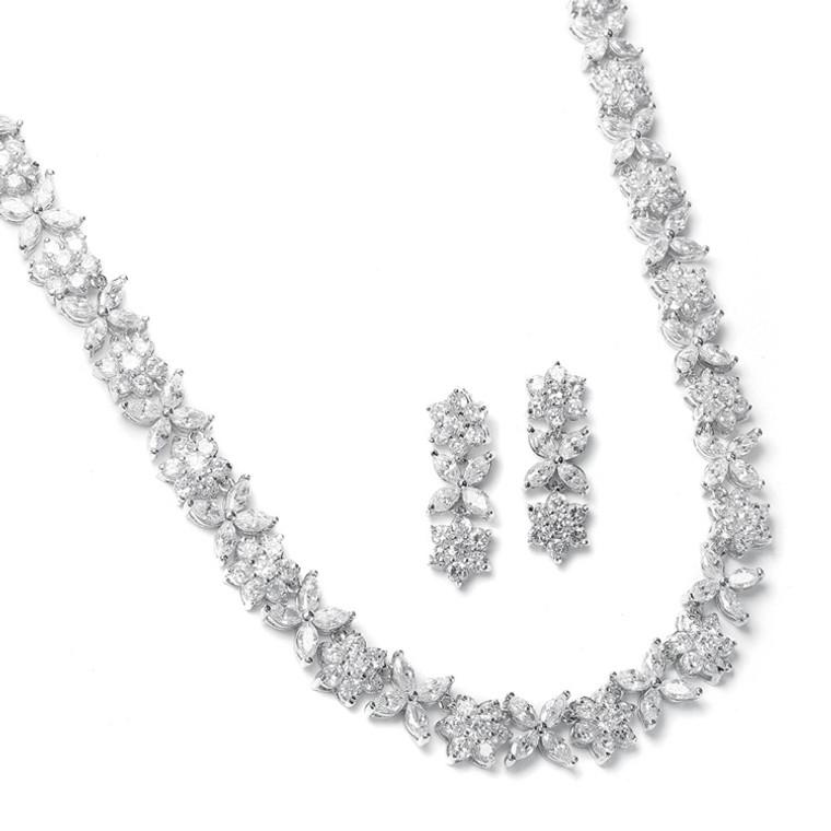 Stunning Cubic Zirconia Wedding Jewelry Set Mariell  2020S