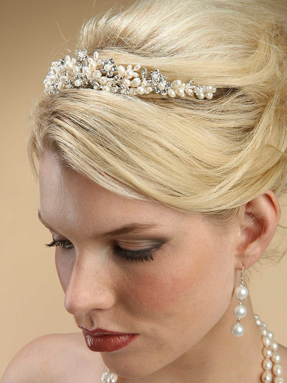 Freshwater Pearl Wedding Tiara 3318T by Mariell