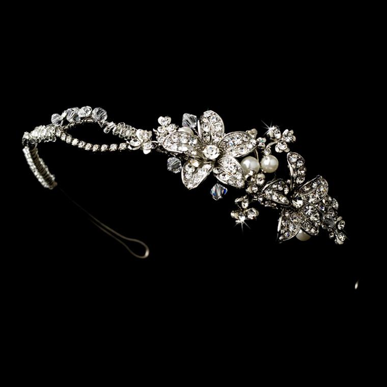Modern Vintage Pearl Side Accent Bridal Headband