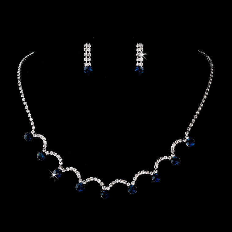 5 Sets Sapphire Navy Blue Bridesmaid Jewelry