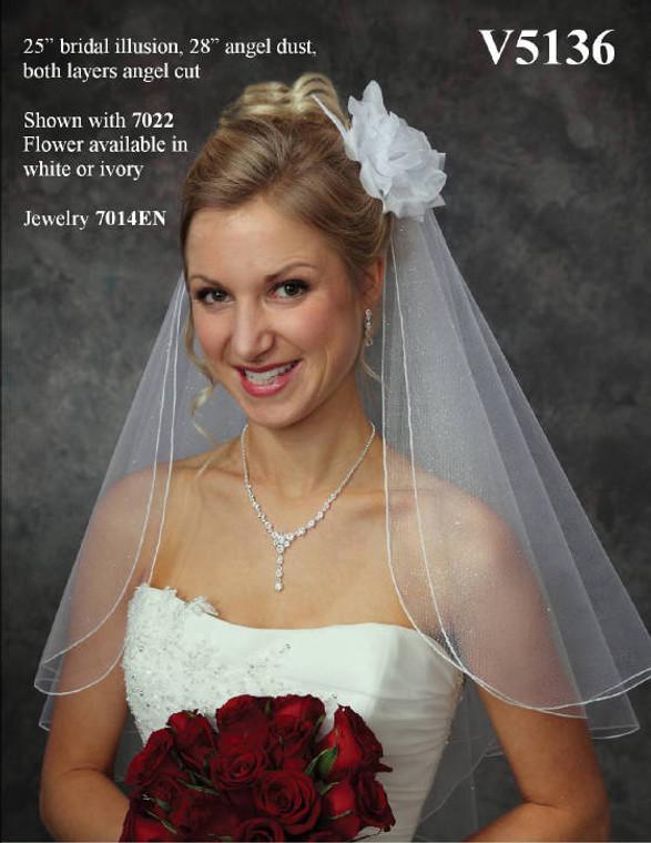 Angel Dust Elbow Length Custom Made Wedding Veil