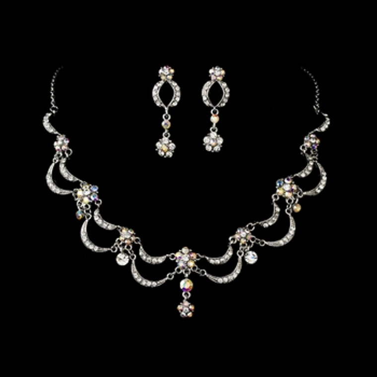 Victorian Antique Silver AB Jewelry Set
