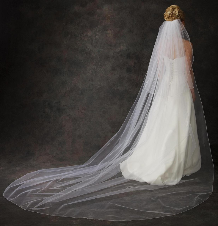 Extra Wide Custom Made Two Layer Cathedral Length Wedding Veil