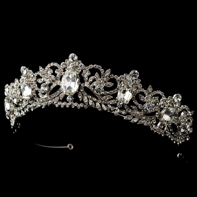 Ornate Antique Silver Wedding and Quinceanera Tiara
