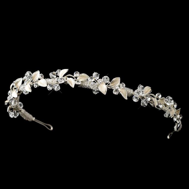 Silver Crystal and Rhinestone Vine Wedding Headband