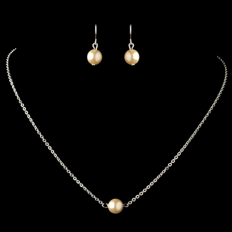 3 Sets Boxed Ivory Pearl Bridesmaid Jewelry