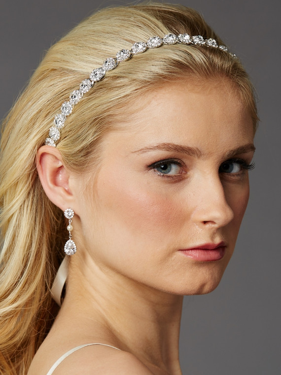 Silver Plated Preciosa Crystal Wedding Headband
