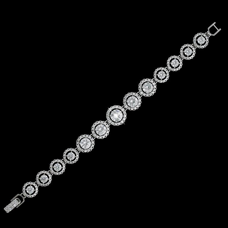 Graduating Circle CZ Bridal Bracelet b4542