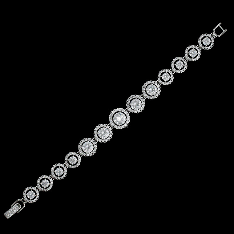 Graduating Circle CZ Bridal Bracelet b4542