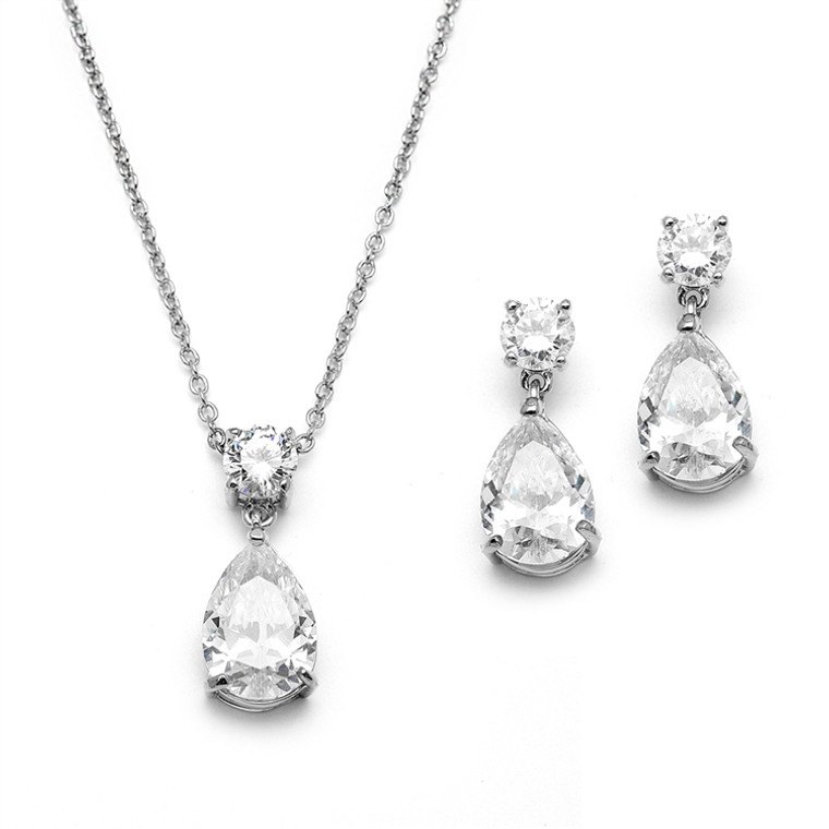 Simply Elegant CZ Bridal and Prom Jewelry