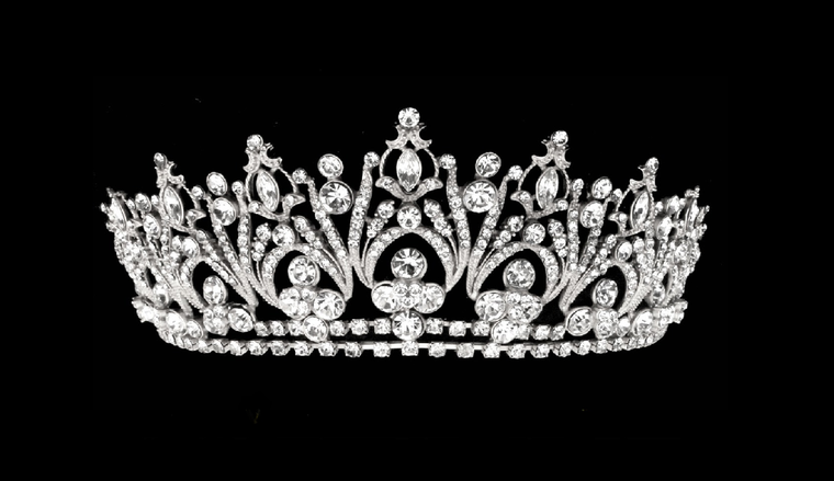 Silver Rhinestone Bridal and Quinceanera Tiara