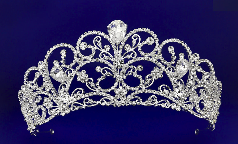Silver or Gold  Plated Czech Rhinestone Wedding and Quinceanera Tiara