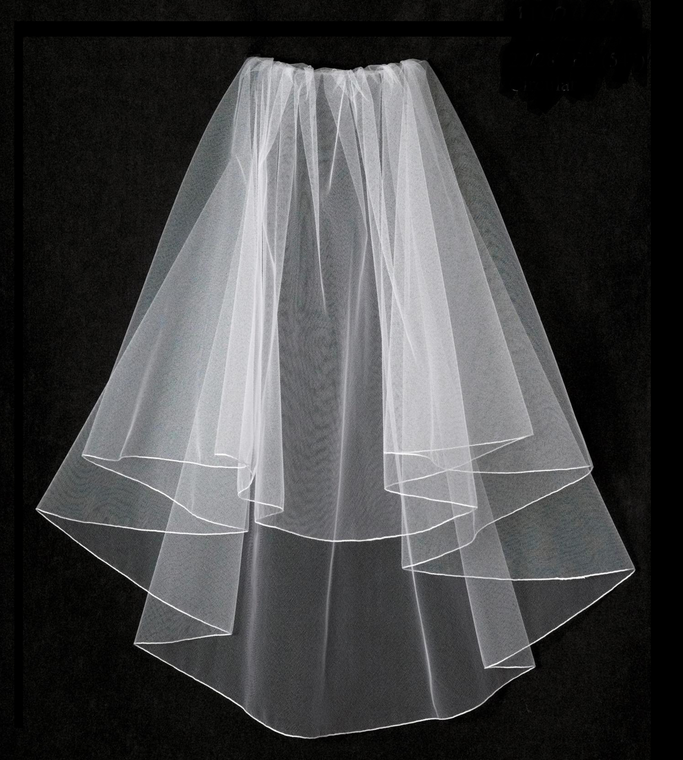 Two Layer Elbow Length Wedding Veil V797 in Many Colors