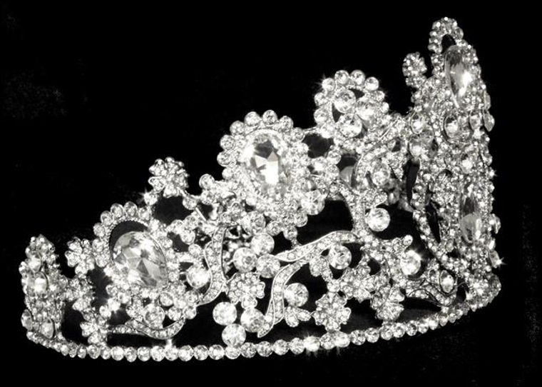 """3 1/2"""" Tall  Wedding and Quinceanera Tiara hp4350 -Sale!"""