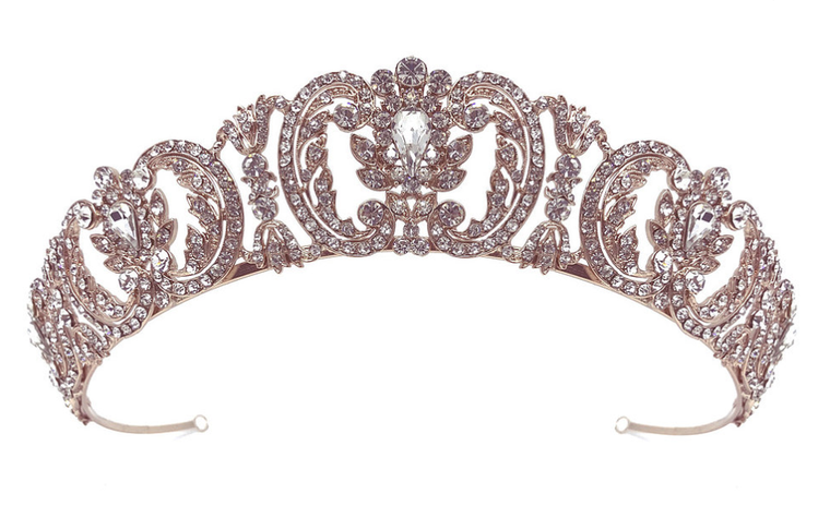 Rose Gold, Gold  or Silver Rhinestone Wedding and Quinceanera Tiara