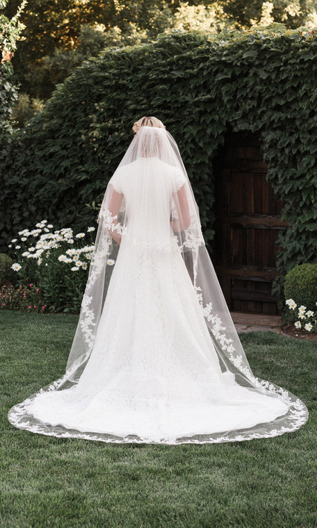 Two Layer Lace  Cathedral Wedding Veil EnVogue V1997C