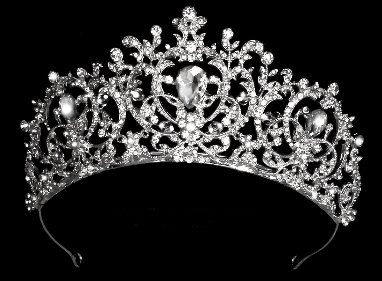 Silver Plated Majestic Crystal Wedding and Quinceanera Tiara