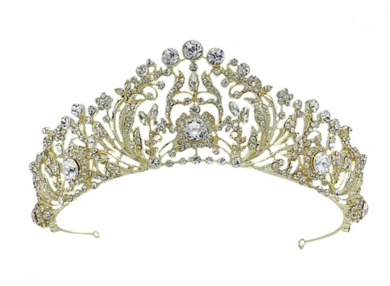 """Gold or  Silver Plated 2"""" Tall  Wedding and Quinceanera Tiara"""