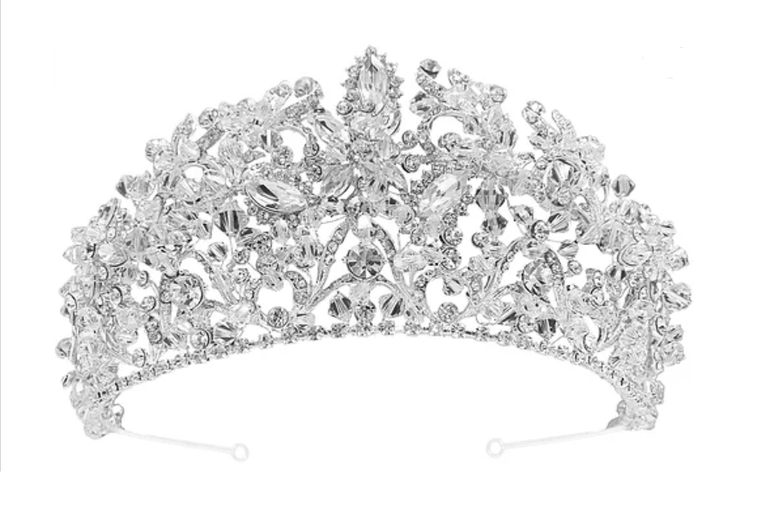 "3"" Tall  Crystal Wedding and Quinceanera Tiara in Silver or Gold"