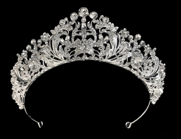 """2"""" Silver Plated Rhinestone Bridal and Quinceanera Tiara"""