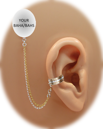"""""""3 Band"""" Ear Cuff - Sterling Silver and 12K Gold Fill"""