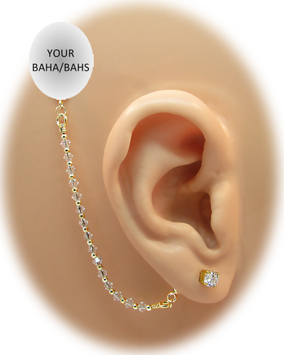 CZ Stud Earring (5 mm) - 14K Yellow Gold