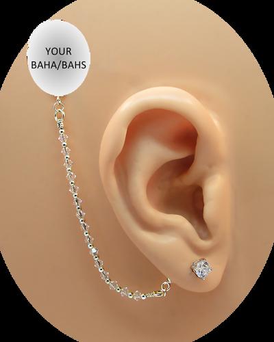 CZ Stud Earring (5 mm) - 14K White Gold