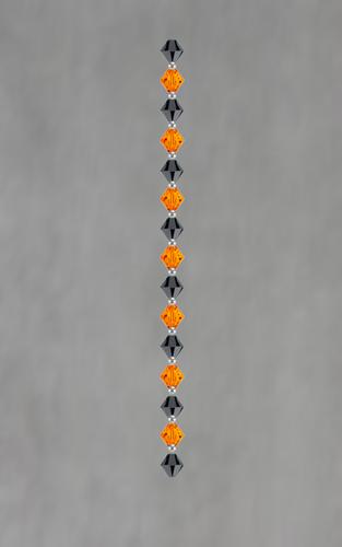 Halloween Swarovski Crystal HearClip Chains