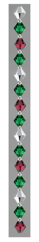 Green, Red & Silver