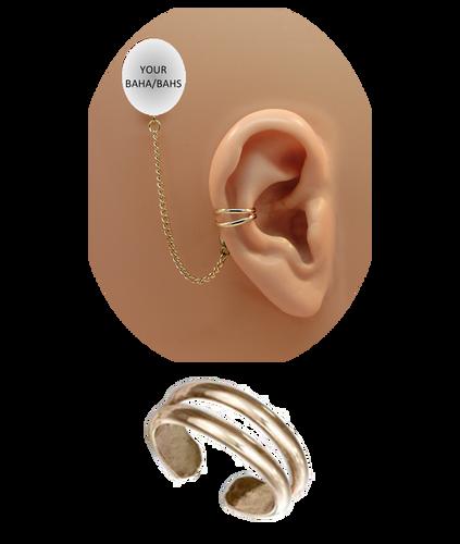 """""""2 Band"""" Ear Cuff - 12K Gold Fill"""