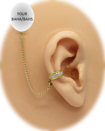 """""""Band with CZs"""" Ear Cuff - Gold-Fill"""