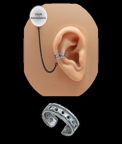 """Round Hole"" Ear Cuff - Oxidized Sterling Silver"