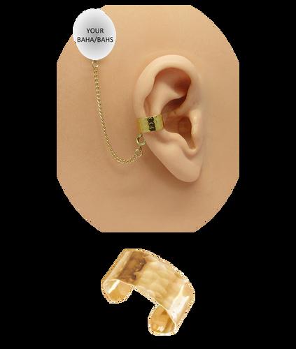 """Hammered"" Ear Cuff - Gold Fill"