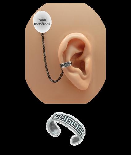 """Maze"" Ear Cuff - Oxidized Sterling Silver"