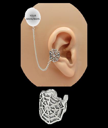 """Spider Web"" Ear Cuff - Sterling Silver"